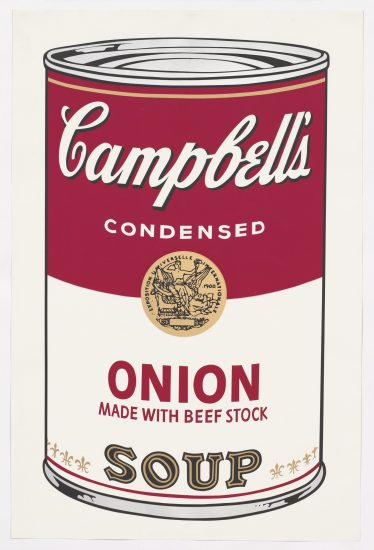 Andy Warhol Screen Print, Onion Soup, Campbell's Soup I
