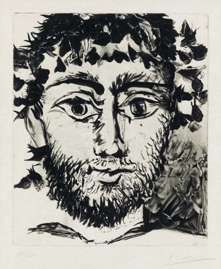 Pablo Picasso Etching, Le Faune (The Faun), 1958