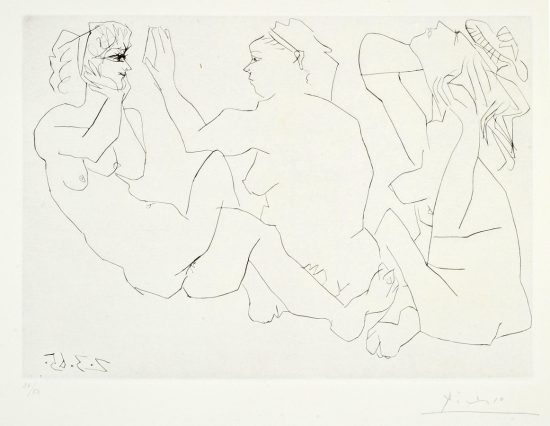 Pablo Picasso Lithograph, Trois Femmes Nues (Three Nude Women), 1965