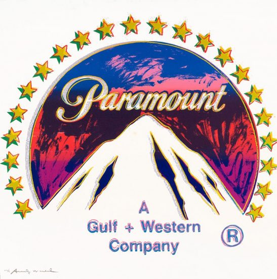 Andy Warhol Screen Print, Paramount, 1985