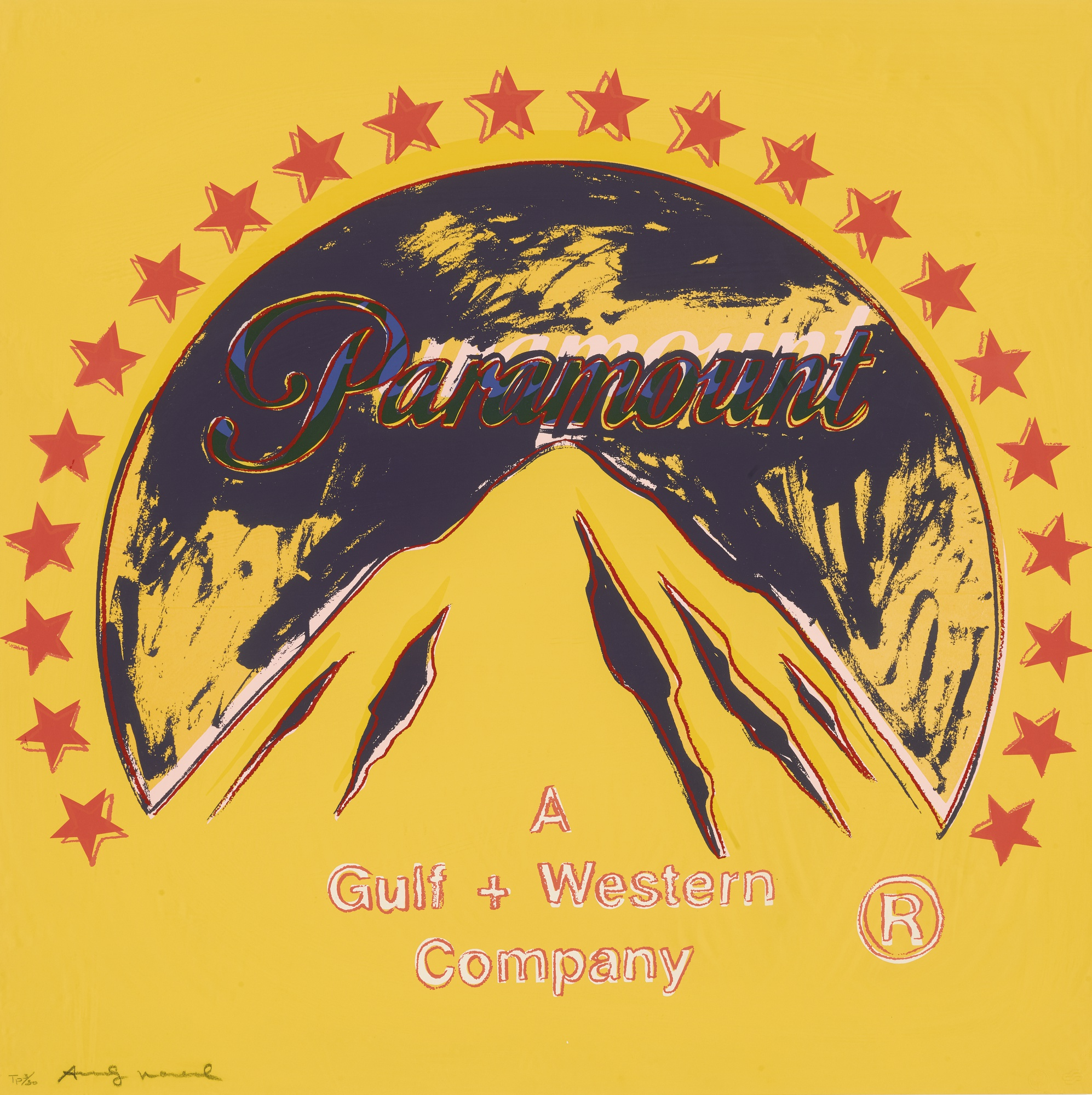 Andy Warhol Paramount TP (Unique Trial Proof), from the Ads Series, 1985