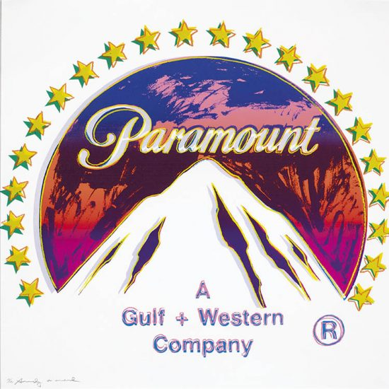 Andy Warhol Screen Print, Paramount, from the Ads Portfolio, 1985