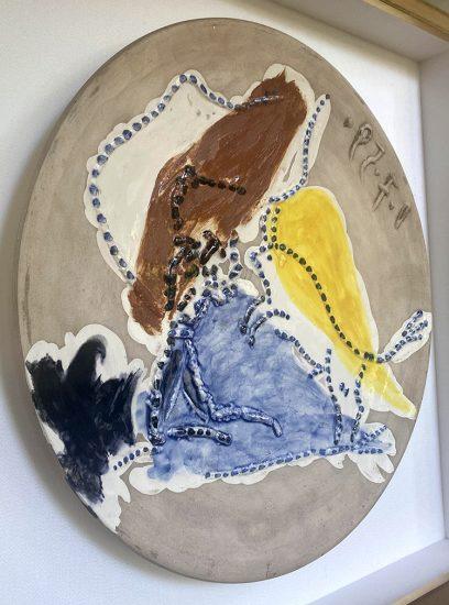 Pablo Picasso Ceramic, Pase de cape, from Service Scènes de Corrida, 1959 A.R. 417