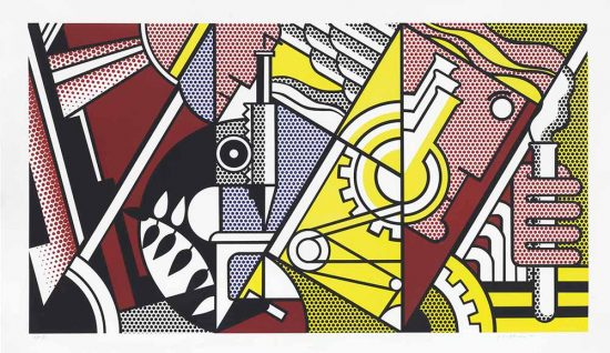 Roy Lichtenstein Lithograph, Peace Through Chemistry I, 1970, C.96