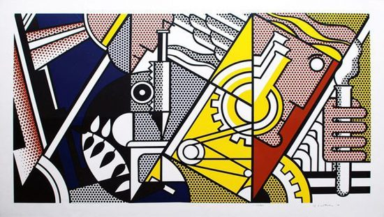Roy Lichtenstein Lithograph, Peace Through Chemistry II, 1970, C.97