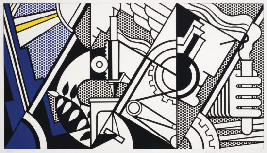 Roy Lichtenstein Lithograph, Peace Through Chemistry IV, 1970, C.99