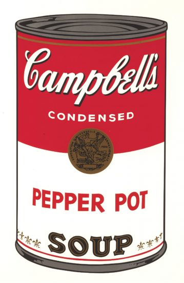 Andy Warhol Screen Print, Pepper Pot Soup, from Campbell's Soup I Portfolio, 1968