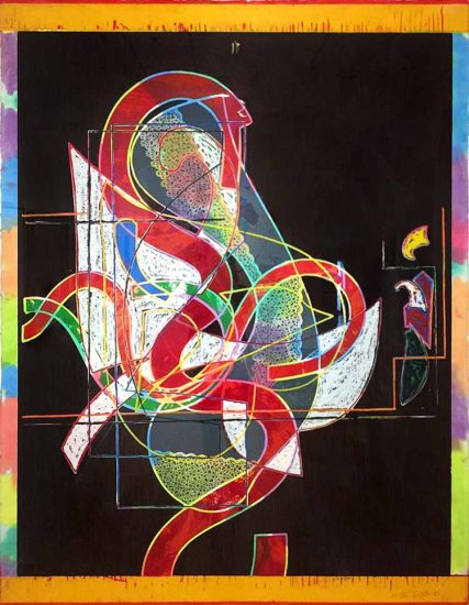 Frank Stella Relief, Pergusa Three, from the Circuits Series, 1983
