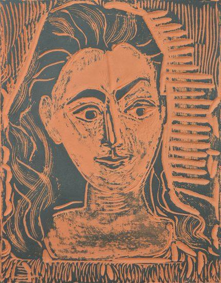 Pablo Picasso Ceramic, Petit Buste de Femme (Little Bust of Woman), 1964 A.R. 523