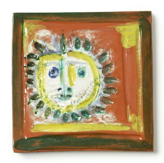 Pablo Picasso Ceramic, Petit Visage Solaire (Little Solar Face), 1968 A.R. 552