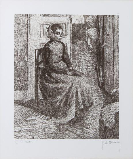 Camille Pissarro Lithograph, Petite Bonne Flamande (Good Little Flemish Girl), c. 1900