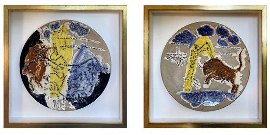 Pablo Picasso Ceramic, Picador and Banderilleros, from Service Scènes de Corrida (Set of 2 plates), 1959 A.R. 418, A.R. 419