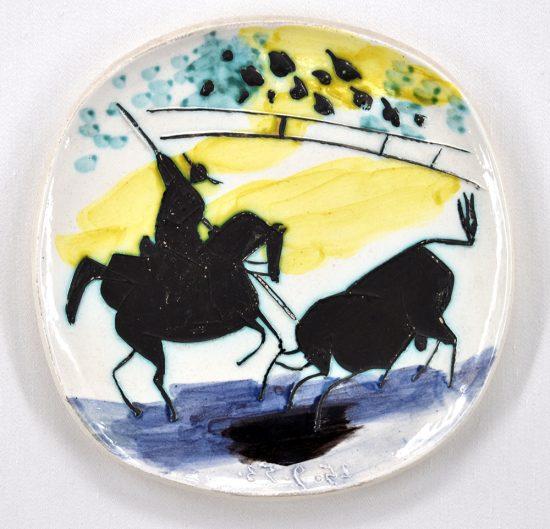 Pablo Picasso Ceramic, Picador et taureau (Picador and Bull), 1953 A.R. 197