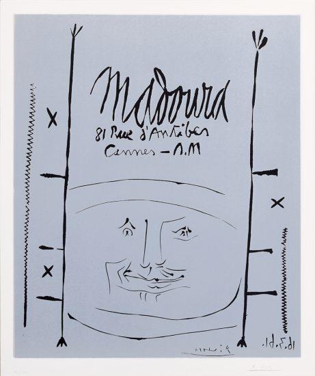 Pablo Picasso Linocut, Picasso Linocut Madoura, 1961