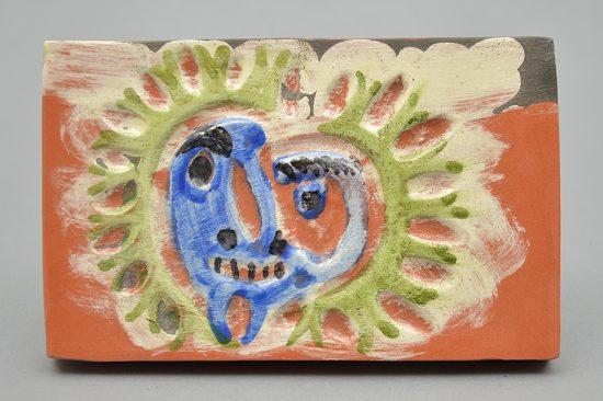 Pablo Picasso Ceramic, Picasso Madoura Plaque, Sun, 1968-1969 A.R. 545