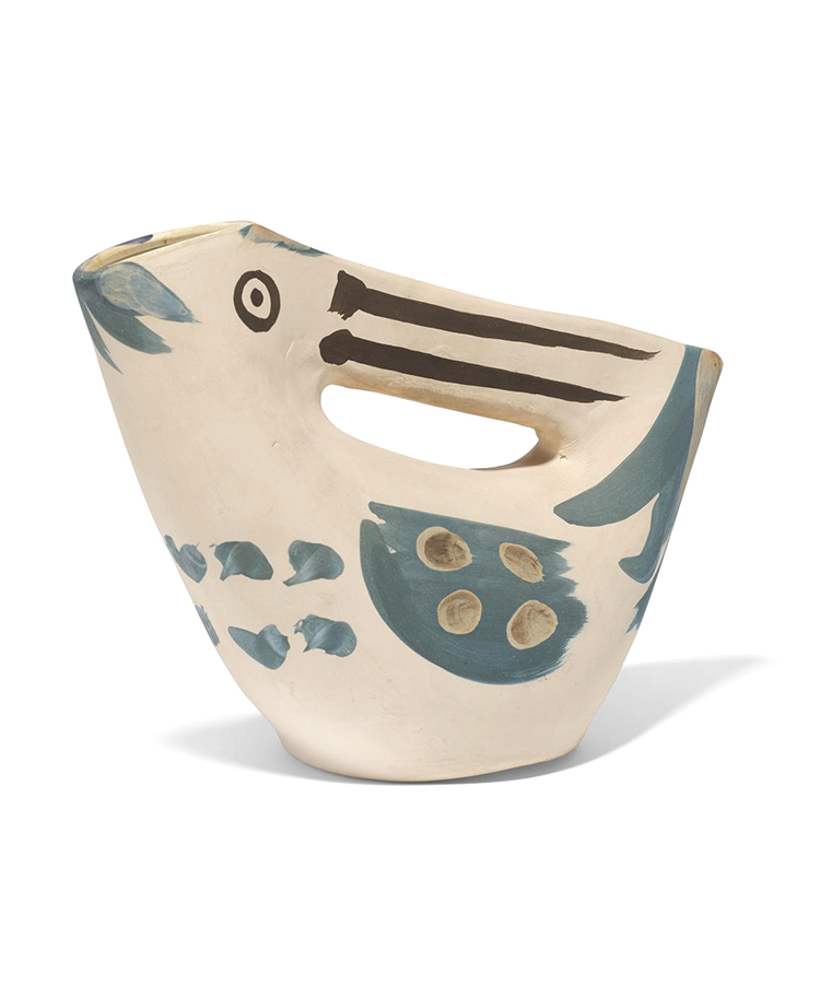 pablo picasso ceramic seized handled pitcher 1953 (image 1)