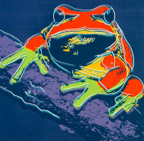 Andy Warhol Lithograph, Pine Barrens Tree Frog from Endangered Species Series, 1983