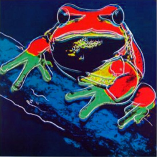 Andy Warhol Screen Print, Pine Barrens Tree Frog from Endangered Species Series, 1983