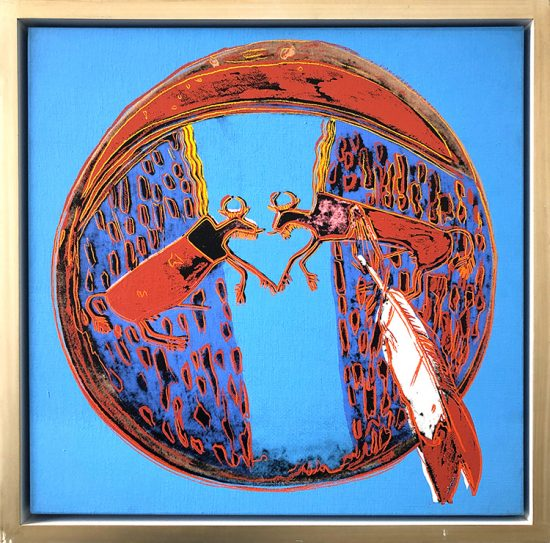 Andy Warhol Acrylic, Plains Indian Shield, From the Cowboys and Indians Series, 1986