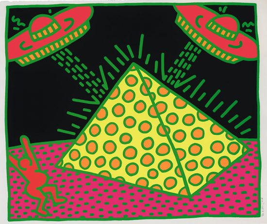 Keith Haring Screen Print, Plate II, from Fertility Suite 1983