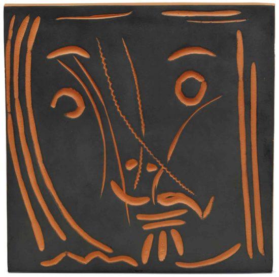"""Pablo Picasso Ceramic, """"Pomona"""" Woman's Face, 1969"""
