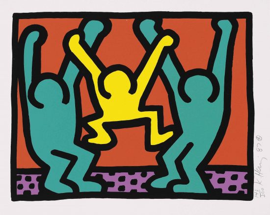 Keith Haring Silkscreen, Pop Shop I (Plate 2), from the Pop Shop I Portfolio, 1987