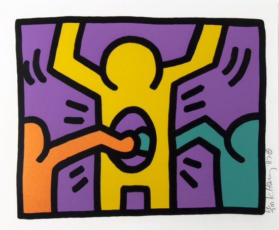Keith Haring Silkscreen, Pop Shop I (Plate 3), from the Pop Shop I Portfolio, 1987