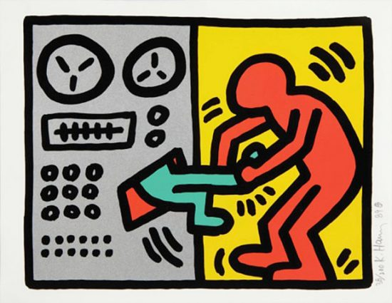 Keith Haring Silkscreen, Pop Shop III (Plate 1), from the Pop Shop III Portfolio, 1989
