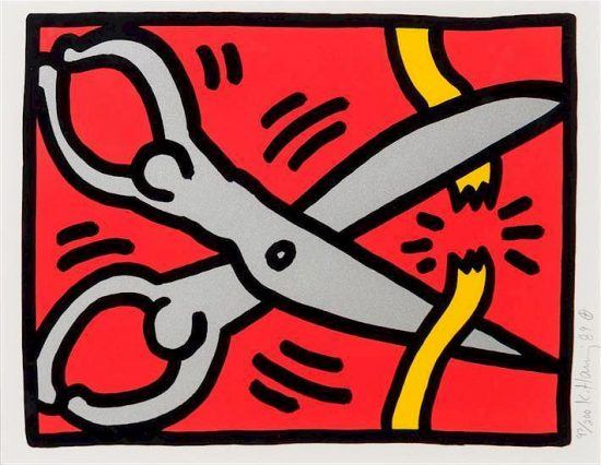 Keith Haring Silkscreen, Pop Shop III (Plate 2), from the Pop Shop III Portfolio, 1989