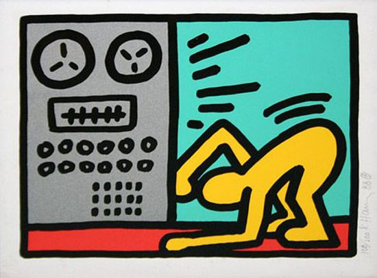 Keith Haring Silkscreen, Pop Shop III (Plate 4), from the Pop Shop III Portfolio, 1989