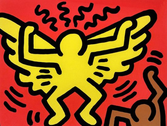 Keith Haring Silkscreen, Pop Shop IV (Plate 1), from the Pop Shop IV Portfolio, 1989