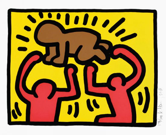 Keith Haring Silkscreen, Pop Shop IV (Plate 2), from the Pop Shop IV Portfolio, 1989