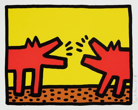 Keith Haring Silkscreen, Pop Shop IV (Plate 4), from the Pop Shop IV Portfolio, 1989