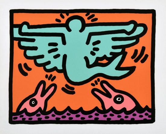 Keith Haring Silkscreen, Pop Shop V (Plate 2), from the Pop Shop V Portfolio, 1989