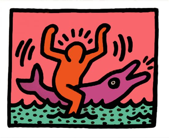 Keith Haring Silkscreen, Pop Shop V (Plate 3), from the Pop Shop V Portfolio, 1989