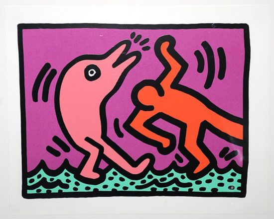 Keith Haring Silkscreen, Pop Shop V (Plate 4), from the Pop Shop V Portfolio, 1989