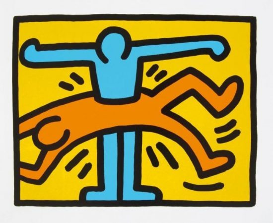Keith Haring Silkscreen, Pop Shop VI (Plate 1), from the Pop Shop VI Portfolio, 1989