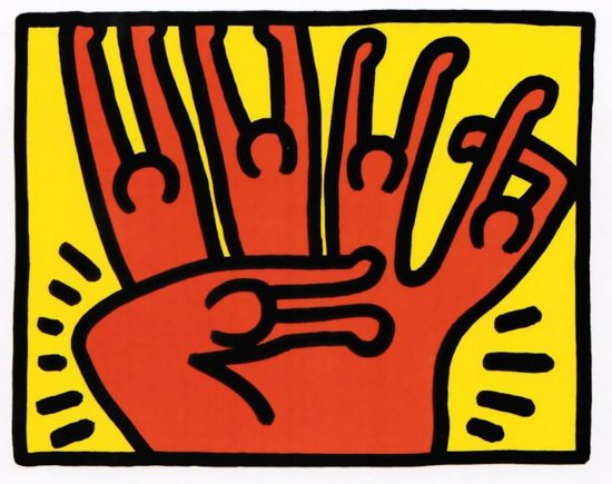 Keith Haring Lithograph, Pop Shop VI (Plate 3), from the Pop Shop VI Portfolio, 1989