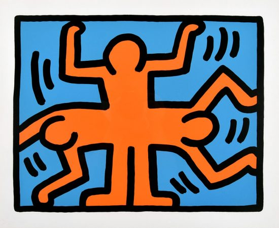Keith Haring Lithograph, Pop Shop VI (Plate 4), from the Pop Shop VI Portfolio, 1989