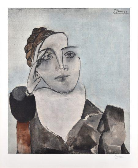 Pablo Picasso Collotype, Portrait de Mlle D.M. (Dora Maar), c. 1960