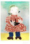 Pablo Picasso Lithograph, Portrait d'une fille (Maya), 1965
