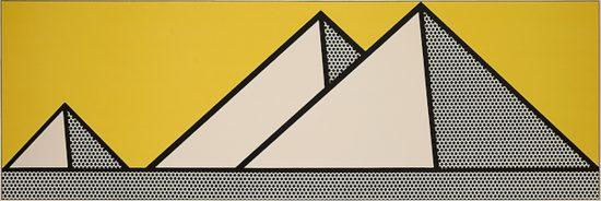 Roy Lichtenstein Lithograph, Pyramids, 1969, C.87