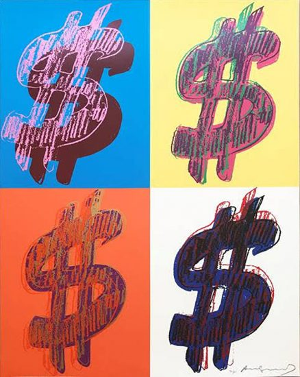 Andy Warhol Screen Print, $ (Quadrant), 1982