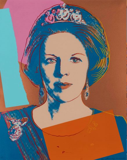 Andy Warhol Screen Print, Queen Beatrix, Reigning Queens Series, 1985