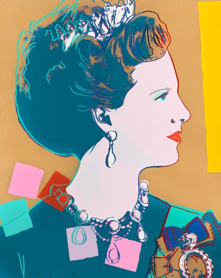 Andy Warhol Screen Print, Queen Margrethe II from Reigning Queens Series, 1985 Unique Trial Proof