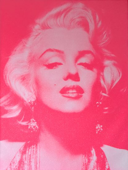 Russell Young Lithograph, Reach out and Touch Faith, Marilyn Monroe Portrait, 2009