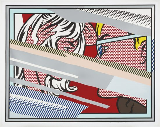 Roy Lichtenstein Lithograph, Reflections on Conversation, 1990