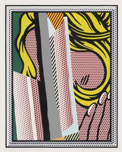 Roy Lichtenstein Screen Print, Reflections on Hair, from the Reflections Series, 1990