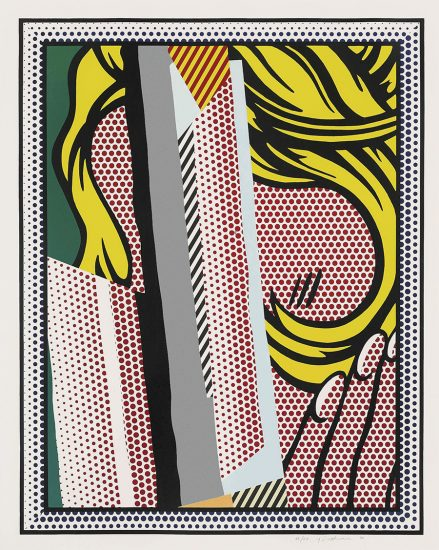 Roy Lichtenstein Lithograph, Reflections on Hair, from the Reflections Series, 1990