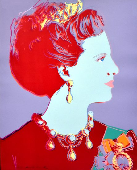 Andy Warhol Lithograph, Queen Margrethe II from Reigning Queens Series, 1985 Unique Trial Proof